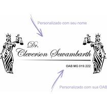 Adesivo De Parede Advogado Personalizado Nome Oab 1,20 Metro