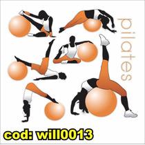 Adesivo Decorativo Academia Ginástica Pilates Will0013