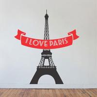 Adesivo Parede Paris Torre Eiffel Quarto Sala Decorativos
