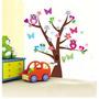 Adesivo Decorativo Parede Infantil Árvore Coruja Borboleta