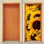 Adesivo Decorativo De Porta - Flores - Girassol - 054mlpt