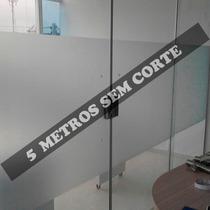 Adesivo Jateado 5,00m X 60cm Sem Corte - Vidro Box Banheiro