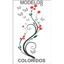 Adesivos Decorativos - Flores Coloridas - Stick Home