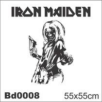 Adesivo Bd0008 Iron Maiden Rock Decoração Parede