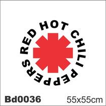 Adesivo Bd0036 Red Hot Chili Peppers Rock Decoração Parede