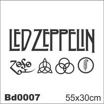 Adesivo Bd0007 Led Zeppelin Rock Adesivo Decoração