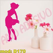 Adesivo Decorativo Mod D170 - Mulher De Costas Vestido