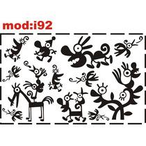 Adesivo I92 Quarto Meninos Monstros Monstrinhos Decoração