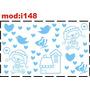 Adesivo I148 Ursinho Borboleta Decoração De Quarto Crianças