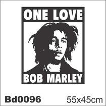 Adesivo Bd0096 Bob Marley One Love Reggae Decoração Parede
