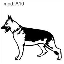 Adesivo A10 Cachorro Raça Pastor Alemao Decoração Parede