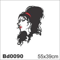 Adesivo Bd0090 Amy Winehouse Rock Decoração Parede