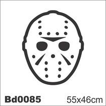 Adesivo Bd0085 Jason Filme Terror Decoração Parede
