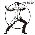 Adesivo E89 Esporte Artes Marciais Jiu Jitsu Hapkido Jack