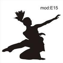 Adesivo E15 Dança Dançarina Dança Contemporanea Mulher Jovem