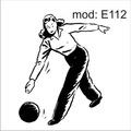 Adesivo E112 Mulher Boliche Velocidade Esporte Jogando