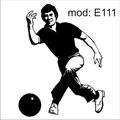 Adesivo E111 Boliche Jogando A Bola
