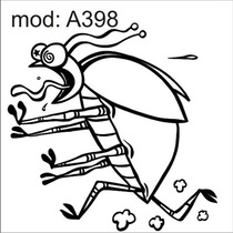Adesivo A398 Barata Inseto Mosca Mosquito Besouro Correndo