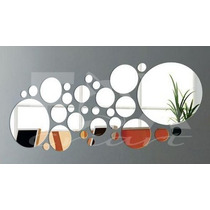 Espelho Adesivo 3d - Círculos 30pcs - Decoração Criativa