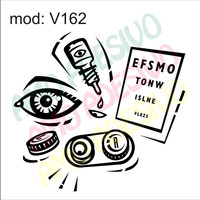 Adesivo V162 Olho Lente Atestado Saude Decorativo