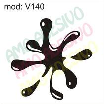 Adesivo V140 Desenho Abstrato Tinta Poça Mancha Gota Parede