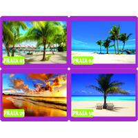 Adesivo Decorativo Praia Beach Palmeira Barco Natureza Sol
