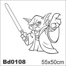 Adesivo Bd0108 Mestre Yoda Star Wars Decoração Parede