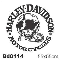 Adesivo Bd0114 Harley-davidson Piloto Moto Decoração Parede