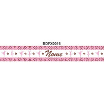 Adesivo Bdfx0016 Bailarinas Seu Nome Border Faixa Decorativa