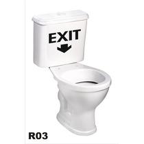 Adesivo R03 Para Caixa De Descarga Vaso Sanitário Exit