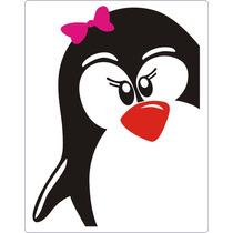 * Adesivo Decorativo P/ Geladeira - Modelo Pinguim Fêmea *