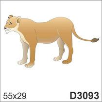 Adesivo D3093 Leopardo Tigre Onça Animal Decorativo Parede