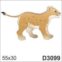 Adesivo D3099 Leopardo Tigre Leoa Animal Decorativo Parede