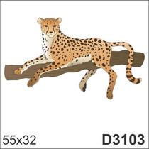 Adesivo D3103 Leopardo Leoa Tigre Animal Decorativo Parede