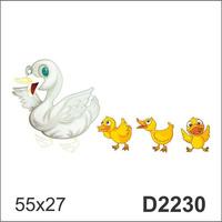 D2230 Adesivo Decorativo Pato Patinhos Mãe Filhotes