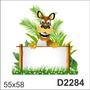 D2284 Adesivo Decorativo Tigre Tigrinho Placa De Escrever