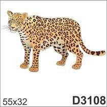 Adesivo D3108 Onça Tigre Pintado Pintas Animal De Parede