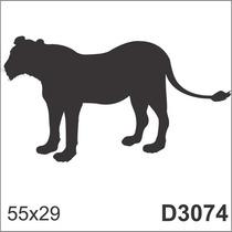 Adesivo D3074 Desenho Abstrato Onça Leao Animal De Parede