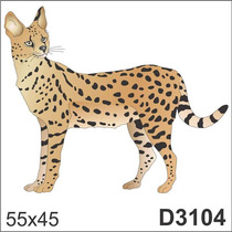 Adesivo D3104 Leopardo Tigre Onça Animal Decorativo Parede