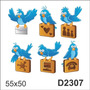 D2307 Adesivo Decorativo Pássaro Pássarinho Correio Elegante