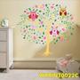 Adesivo Decoração Quarto Crianças Arvore Corujas Fofo Wpt22c