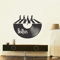 Adesivo Decorativo De Parede Lp Disco The Beatles Abbey Road