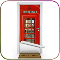 Cabine Telefone Londres - Adesivo Decoração Para Portas