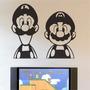 Adesivos Decorativos Super Mario - Mario E Luigi - 55x47cm