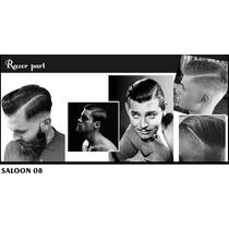 Adesivo De Parede Barbearia Salao Beleza Masculino H08