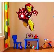 Adesivo De Parede Quarto Infantil Super Herói Homem De Ferro
