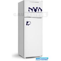 Adesivo Decorativo Geladeira/parede Pinguins Caindo