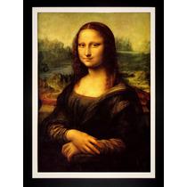 Quadro Monalisa Foto Hd 100x70cm Leonardo Da Vinci Decoração
