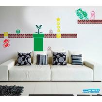 Kit De Adesivos Decorativos De Parede Super Mario Bros
