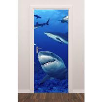 Adesivo Porta Plotagem Fundo Do Mar Tubarões - Brindesi9